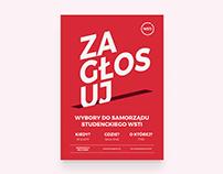"""Plakat / """"Wybory samorządu studenckiego"""""""