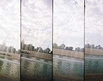 Split skies. [Lomo Supersampler]