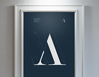 Austerra Logo Custom Type Design