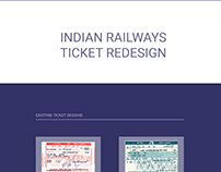 IRCTC Indian Railways Ticket Redesign
