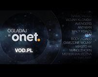 Onet.pl - VOD.pl campaign 360, ATL, OOH, www