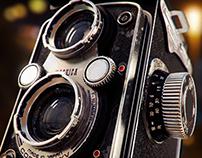 Vintage Camera. Yashika 44
