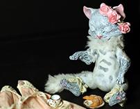 OOAK Poseable Dolls: Mademoiselle Chatte