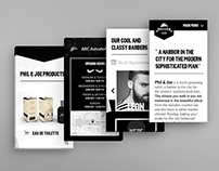 Phil & Joe Barbers One Page Website Design