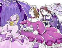 The Purple in a Beaker: illustrations