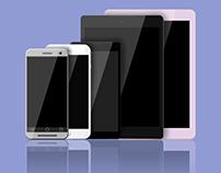 Flat Mobile Device Mockup