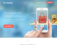Weengs - Landing Page Design