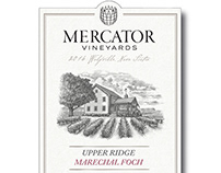 Mercator Vineyards Label Illustrated by Steven Noble