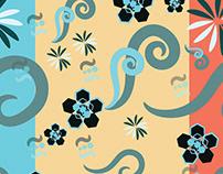 seamless pattern decorated art board