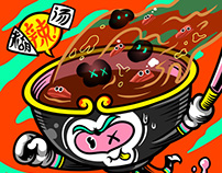 Monkey food illustrations