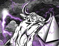 The Raging Bull - The Golden Horde Merchandise Design