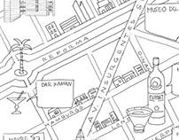 Mexico City Maps, Cuahutémoc/Juárez