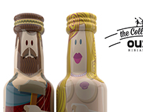 "gogreek ""Oh... my Gods"" ouzo miniatures"