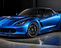 GM Blue Corvette