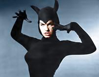 'Devil' Bettie Page in the studio