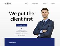 web design concept lawyer