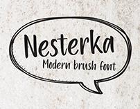 Nesterka. Modern brush font