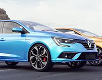 Renault Megane Model/ Blender3D