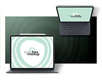 Free PSD iPad Pro with Keyboard Mockup