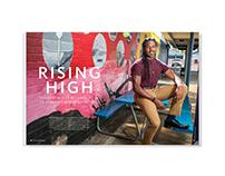 Rising High – magazine feature design