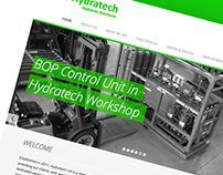 Hydratech - slick oil and gas sector web design