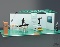 Example stand for sports. In this case Aqua activities