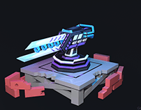Low-Poly SwordGun 2-LvL