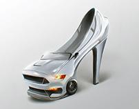 Shelby Mustang High Heel