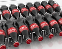 Coca cola chiller shelf