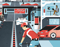 Wired magazine - Smart city illustration