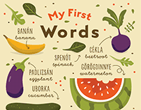 My First Words illustrated poster