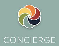 concierge app design + UX + AI + branding