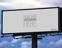 4 Free Outdoor Advertisement Hoarding-Billboard Mockup