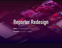 Reporter Magazine website redesign