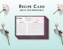Free Retro Recipe Card Template V1