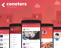 Coneters Branding & Android App Designs