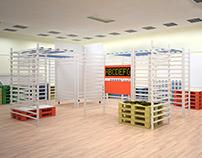 Система модульных стендов для выставочного зала