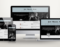 Responsive Website Design for Jeff Miguel Music