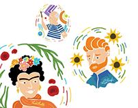 Frida | Van Gogh | Picasso