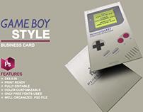 Nintendo Gameboy Business Card