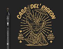 Casa Del' Pigeon - Tee Design - Plus 2 Clothing