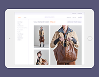 Second Hand Accessories - prototype of shop website