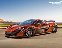 Amber Carbon Fiber McLaren P1