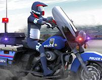 Crime City Police MotorBike