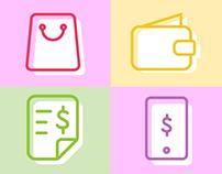 Moni - iconos para la app y la web