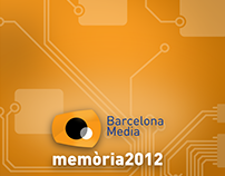 Barcelona Media | annual report layout & infographic