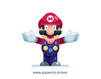 Flat Design Super Mario Bros Character