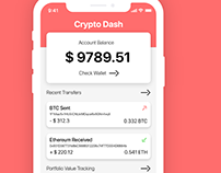Cryptocurrency Wallet Dashboard Concept