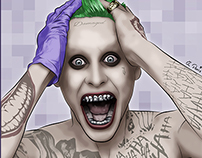 Joker Jared Leto Vector