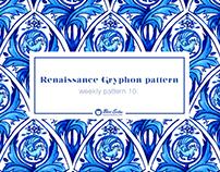 Renaissance Gryphon seamless pattern
